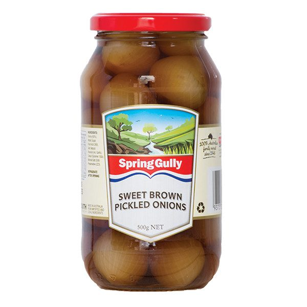 sweet brown pickled onions