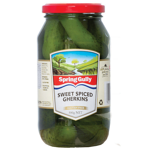 sweet spiced gherkins
