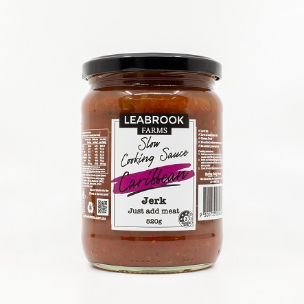 Leabrook Farms Caribbean Jerk Slow Cooking Sauce